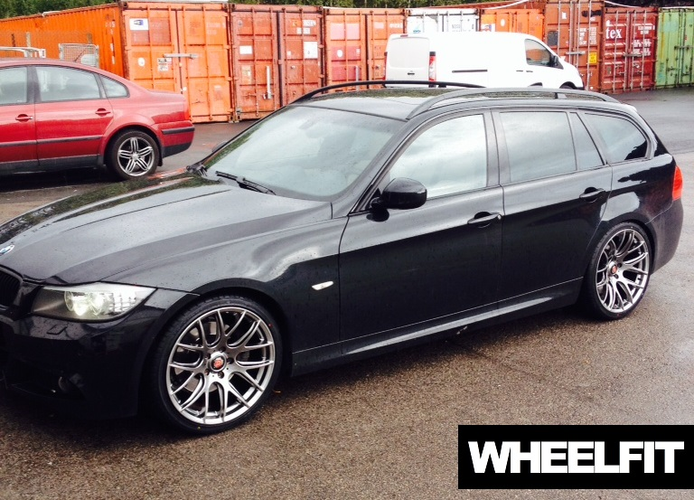 19 Quot Axe Cs Lite Hyper Black Bmw E91 Wheelfit